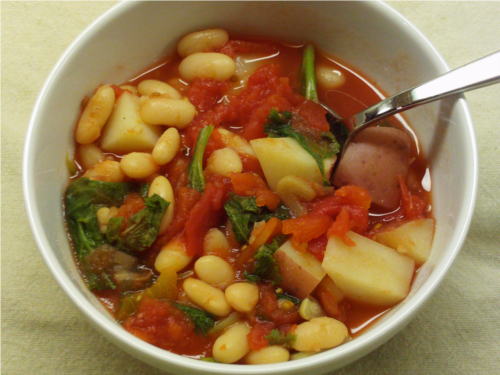 White Bean Tomato Soup | Wheat-Free Meat-Free