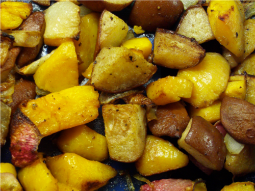 Roasted Squash and Pears   Wheat-Free Meat-Free