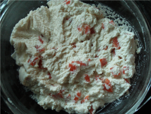 Fresh Cheese with Roasted Red Pepper | Wheat-Free Meat-Free