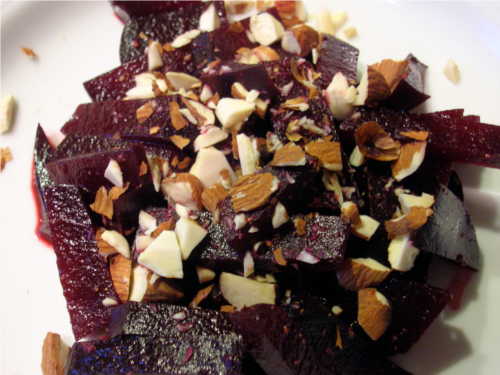 Beet Almond Salad | Wheat-Free Meat-Free