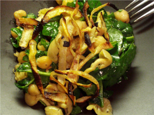 Sesame Spinach Salad   Wheat-Free Meat-Free