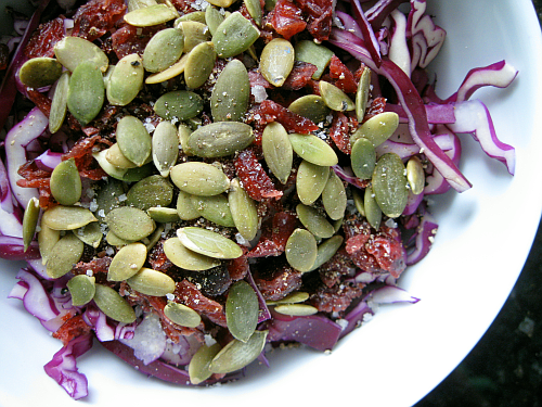 Red Cabbage Salad | Wheat-Free Meat-Free