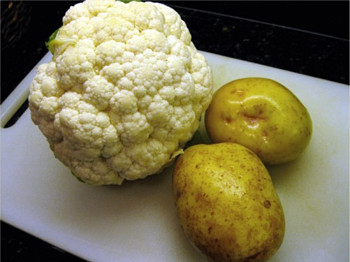 I know that head of cauliflower is huge. I only used half of it.