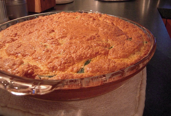 Spinach and Swiss Souffle {Gluten-Free, Vegetarian} | Wheat-Free Meat-Free