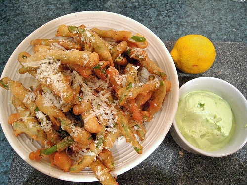Green Bean Fries With Aioli {Gluten-Free} | Wheat-Free Meat-Free