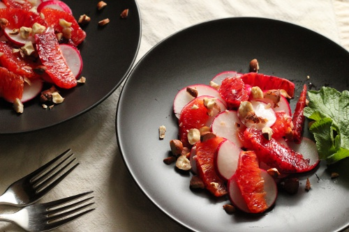 Blood Orange Radish Salad | Wheat-Free Meat-Free