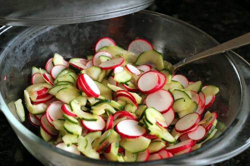 Cucumber Radish Salad | Wheat-Free Meat-Free