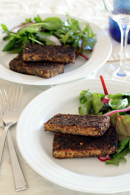 Sweet and Smoky Dry Rubbed Tofu {Gluten-Free, Vegan} | Wheat-Free Meat-Free