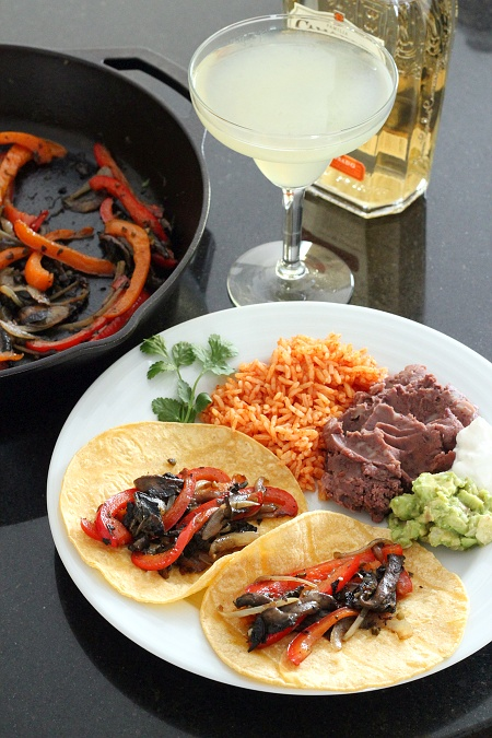 Bell Pepper Mushroom Fajitas {Gluten-Free, Vegetarian} | Wheat-Free Meat-Free