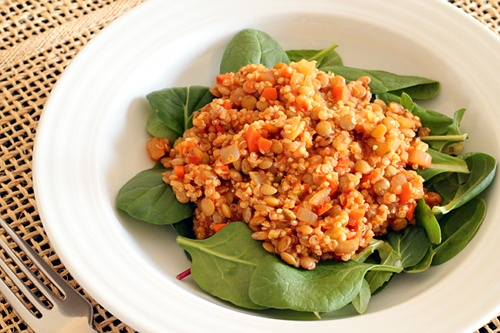 Lentils and Quinoa | Wheat-Free Meat-Free