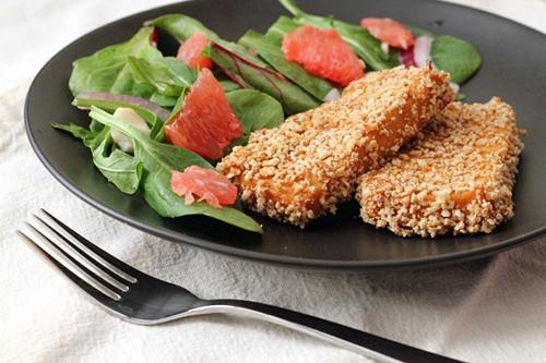 Crusty Wasabi Tofu {Gluten-Free, Vegetarian} | Wheat-Free Meat-Free
