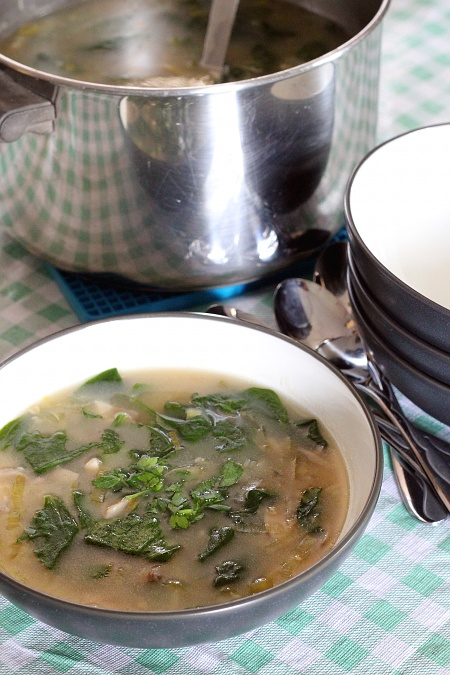 Mushroom Spinach Oat Soup {Gluten-Free, Vegetarian} | Wheat-Free Meat-Free
