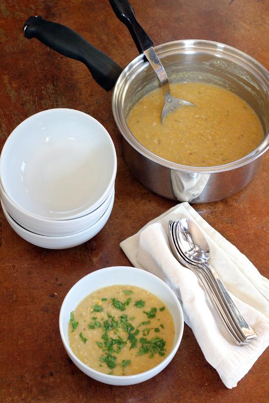 Thai Inspired Red Lentil Soup