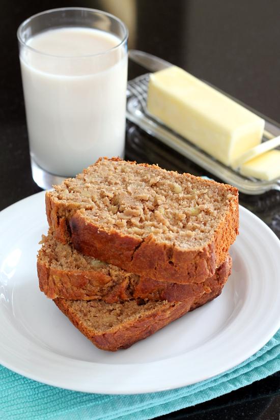 Gluten-Free Spiced Peanut Butter Banana Bread