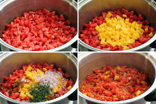 Making Tomato Mango Pasta Sauce | Wheat-Free Meat-Free