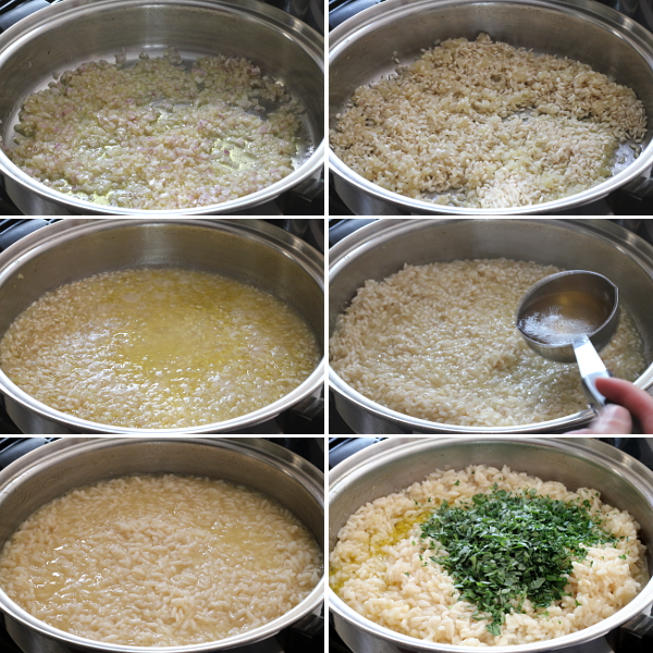 Making Parsley Tarragon Risotto   Wheat-Free Meat-Free