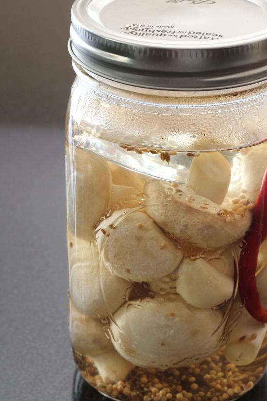 Quick Pickled Mushrooms {Gluten-Free, Vegan} | Wheat-Free Meat-Free