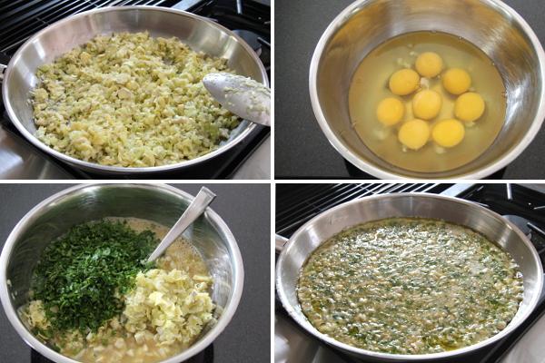 Making Parsley Artichoke Frittata | Wheat-Free Meat-Free