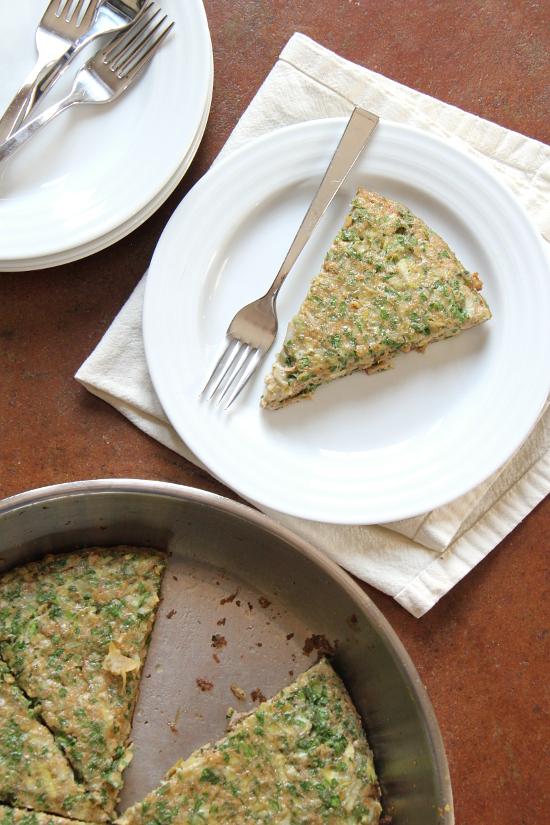 Parsley Artichoke Frittata {Gluten-Free, Vegetarian} | Wheat-Free Meat-Free