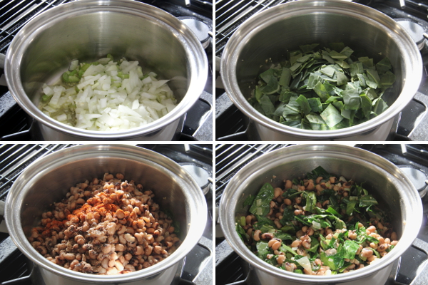 Making Black Eyed Peas and Greens | Wheat-Free Meat-Free
