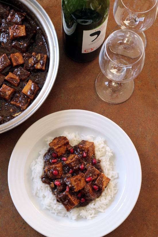 Fesenjoon with Tofu {Gluten-Free, Vegan} | Wheat-Free Meat-Free