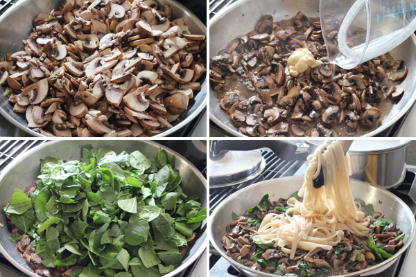 Making Mushroom Spinach Fettuccine | Wheat-Free Meat-Free