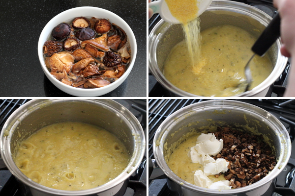 Creamy White Polenta With Mushrooms And Mascarpone Recipe — Dishmaps