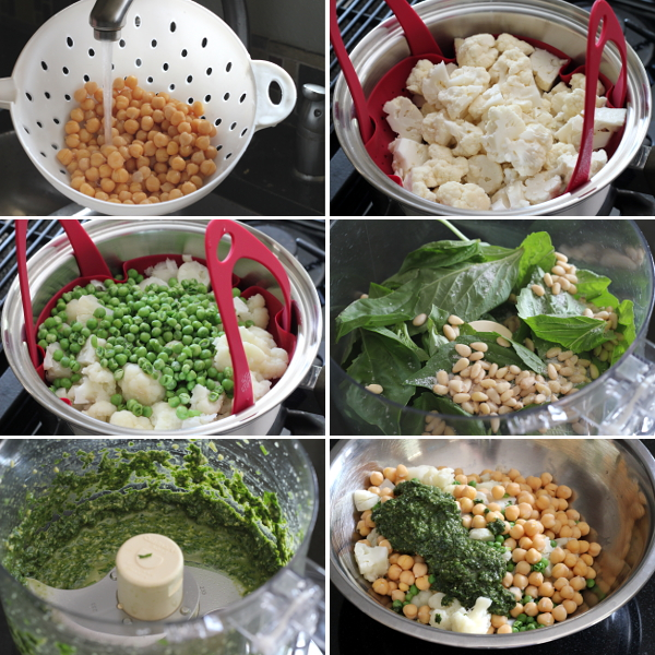 Making Cauliflower Peas and Garbanzos | Wheat-Free Meat-Free