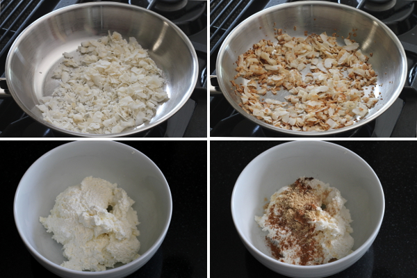 Toasting Coconut and Mixing Cream Cheese | Wheat-Free Meat-Free