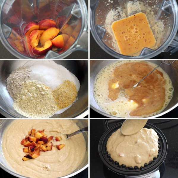 Making Peach Waffles | Wheat-Free Meat-Free