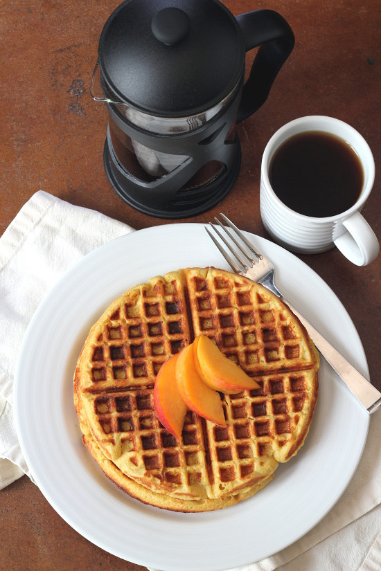 Peach Waffles {Gluten-Free} | Wheat-Free Meat-Free