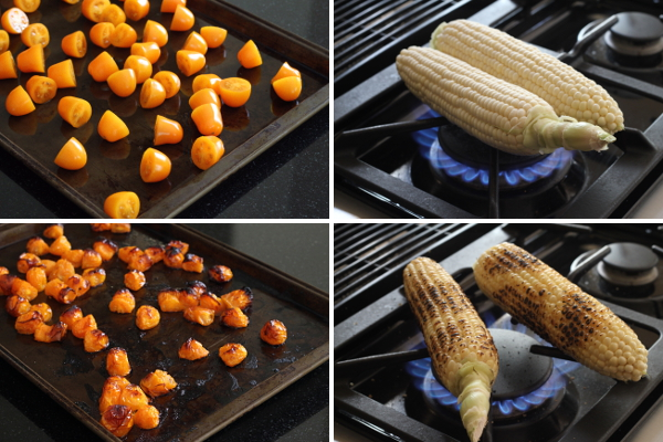 Charring Corn and Roasting Tomatoes | Wheat-Free Meat-Free