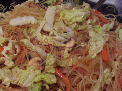 Hot and Sour Noodles   Wheat-Free Meat-Free