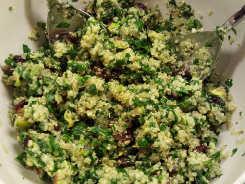 Kale Quinoa Salad | Wheat-Free Meat-Free