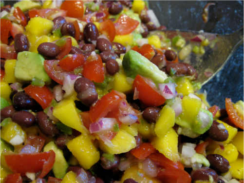 Mango Avocado Black Bean Salsa | Wheat-Free Meat-Free