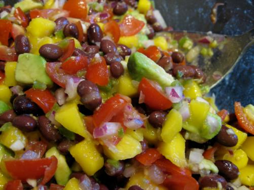 Mango Avocado Black Bean Salsa | Wheat-Free Meat-Free