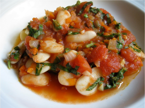 Basil Butter Beans | Wheat-Free Meat-Free