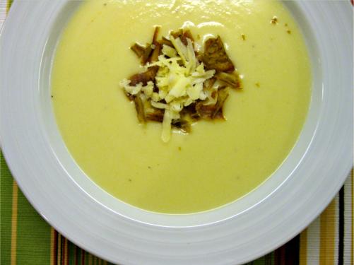 Cauliflower Potato Soup {Gluten-Free, Vegetarian} | Wheat-Free Meat-Free