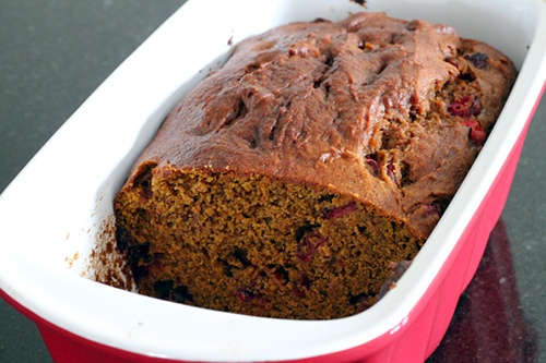 Pumpkin Cranberry Bread Close Up