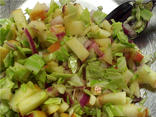 Apple Cabbage Salad | Wheat-Free Meat-Free