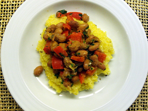 Roman Beans With Polenta | Wheat-Free Meat-Free