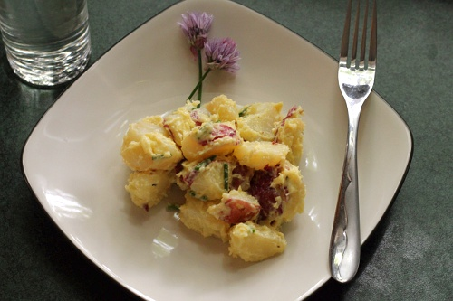 Spring Potato Salad {Gluten-Free, Vegetarian} | Wheat-Free Meat-Free