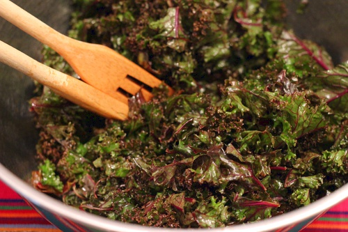 Kathy's Kale Salad | Wheat-Free Meat-Free