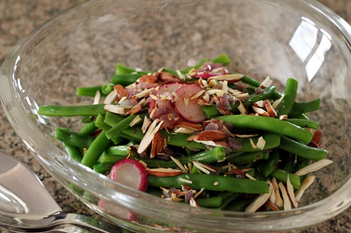 Buttery Green Beans and Radishes {Gluten-Free} | Wheat-Free Meat-Free