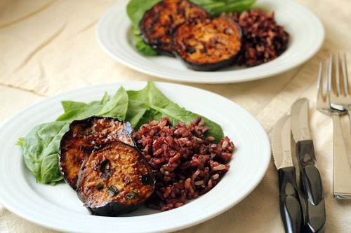 Teriyaki Eggplant Steaks {Gluten-Free, Vegetarian}   Wheat-Free Meat-Free