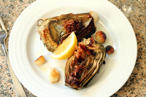Roasted Artichokes | Wheat-Free Meat-Free