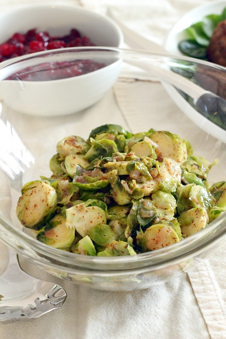 Braised Brussels Sprouts in Mustard Sauce {Gluten-Free, Vegetarian} | Wheat-Free Meat-Free