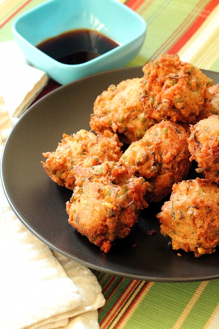 Sprouted Mung Bean and Coconut Fritters {Gluten-Free, Vegetarian} | Wheat-Free Meat-Free