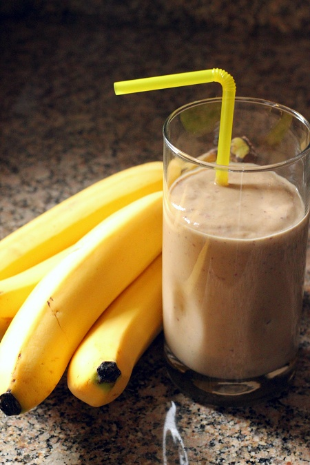 PBJ Banana Smoothie | Wheat-Free Meat-Free