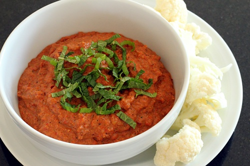 Muhammara (Roasted Red Pepper Dip) {Gluten-Free, Vegetarian} | Wheat-Free Meat-Free